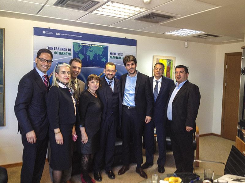 Συνάντηση της ηγεσίας της Γενικής Γραμματείας Αποδήμου Ελληνισμού με το Διοικητικό Συμβούλιο της Παγκόσμιας Διακοινοβουλευτικής Ένωσης Ελληνισμού