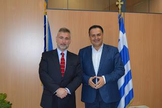 Συνάντηση του Δημάρχου Αχαρνών με τον Έλληνα Γενικό Πρόξενο στο Γιοχάνεσμπουργκ