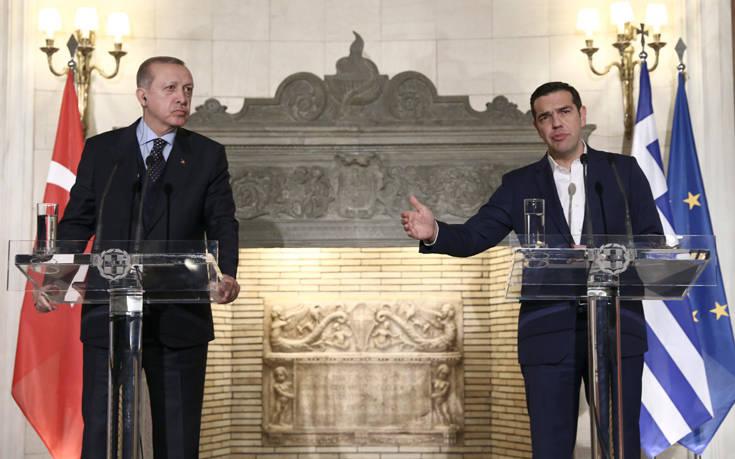 Τσίπρας σε Ερντογάν: Η Ελλάδα έχει Πρωθυπουργό και κράτος δικαίου, όχι σουλτάνο