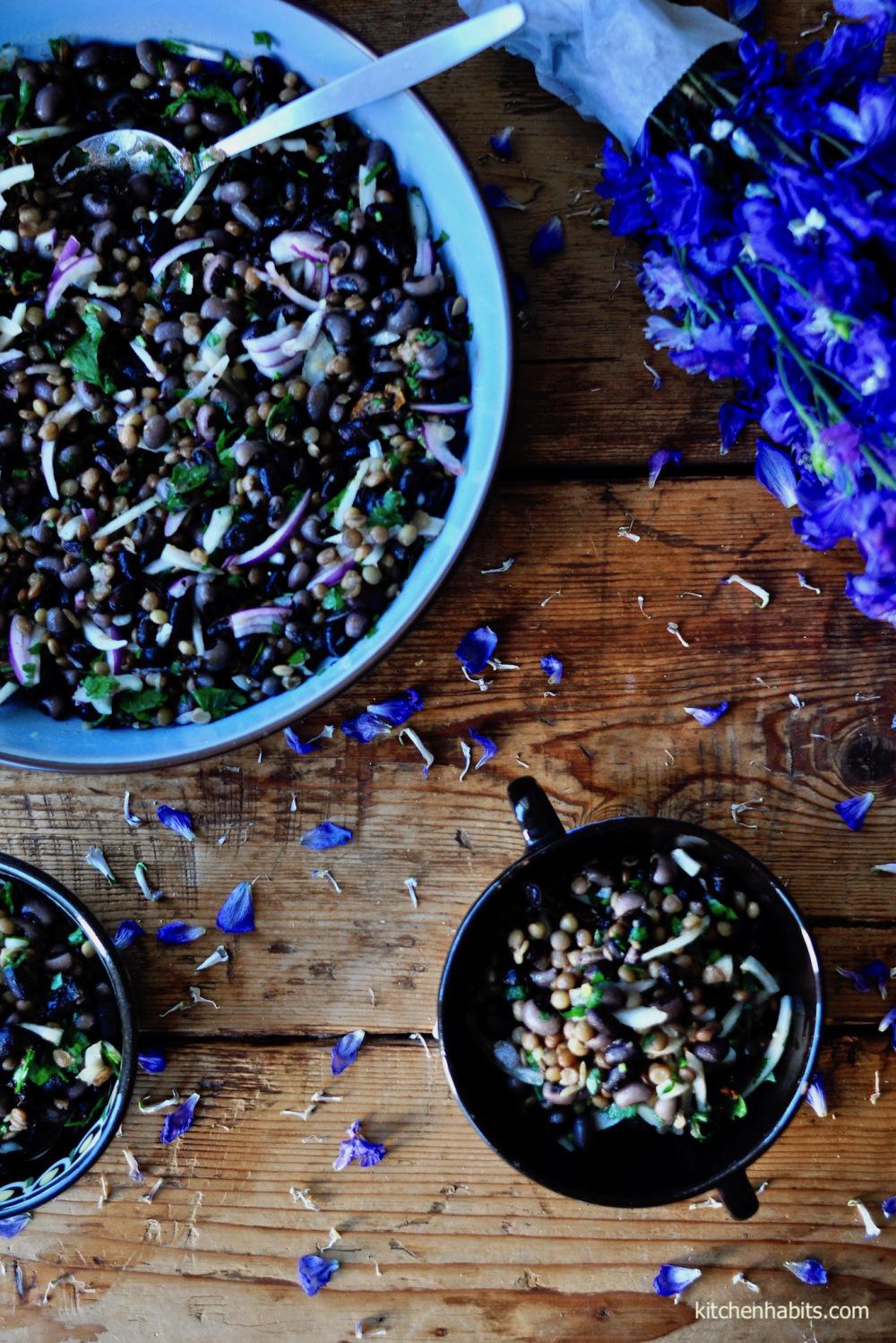 Σαλάτα με φασόλια & φακές – Legumes salad