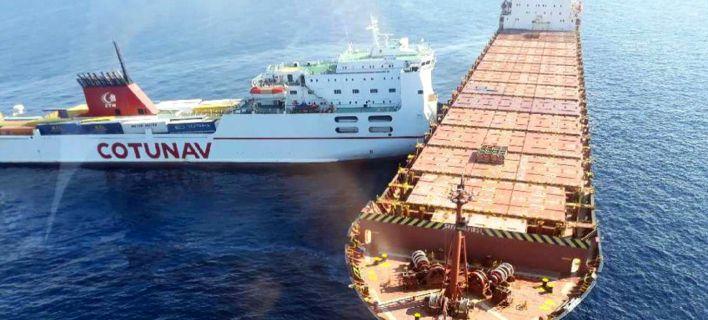 Κορσική: Απίστευτες εικόνες από σύγκρουση πλοίων -Μεγάλη διαρροή καυσίμων