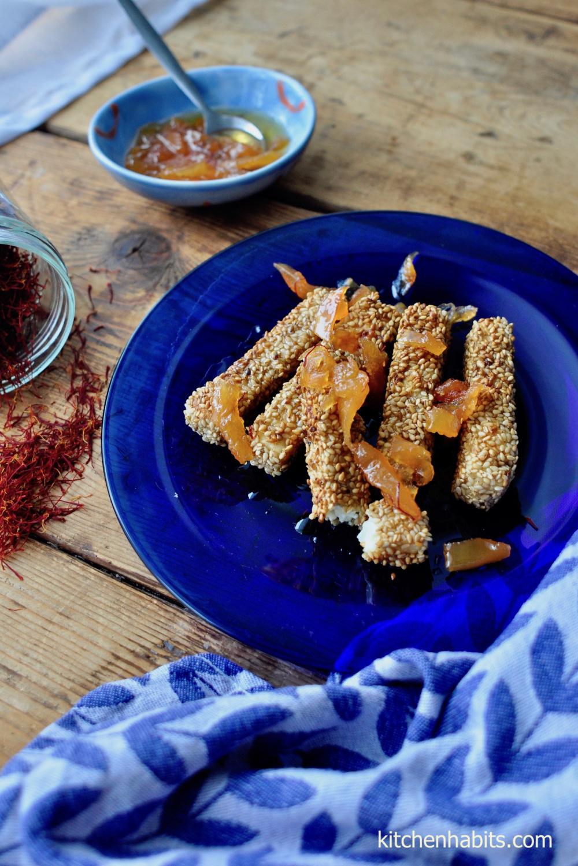 Φέτα με σουσάμι & Κρόκο Κοζάνης – Feta cheese with sesame
