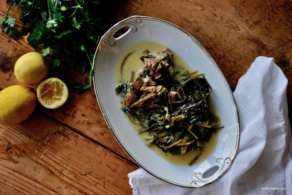 Αρνάκι φρικασέ – 'Lamb Fricassée' / Lamb with greens