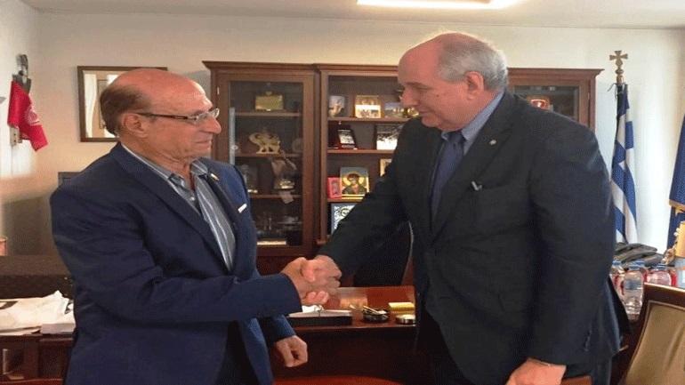 Επισκεψη του υφυπουργού εξωτερικών, Τέρενς Κουΐκ στην Αλεξάνδρεια της Αιγύπτου