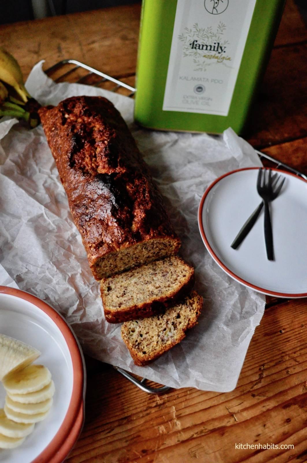 Κέικ μπανάνα με ελαιόλαδο – Banana bread with olive oil
