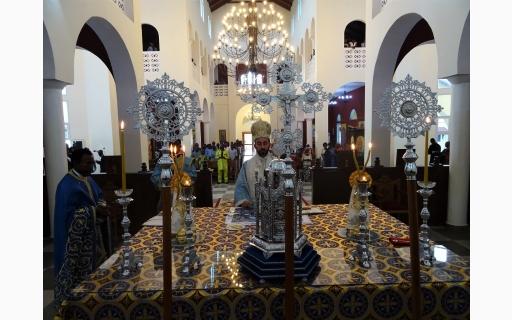 Πρώτη αρχιερατική Θεία Λειτουργία στον νέο Καθεδρικό Ναό της Ι.Μ.Μπραζαβίλ