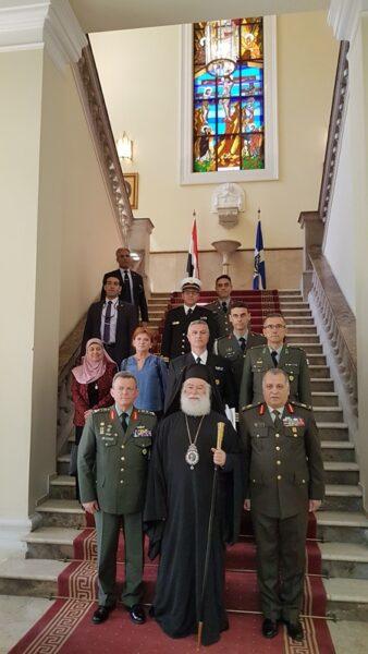 Ο Πατριάρχης Αλεξανδρείας τίμησε στον Αρχηγό της Εθνικής Φρουράς της Κύπρου