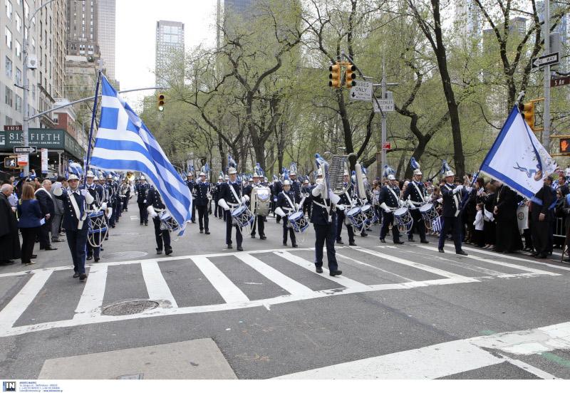 Η παρέλαση των τσολιάδων στη Νέα Υόρκη με το «Μακεδονία ξακουστή» -Το Μανχάταν γέμισε Ελληνες