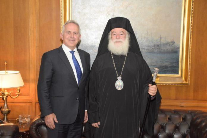 Συνάντηση Αποστολάκη με τον Πατριάρχη Αλεξανδρείας