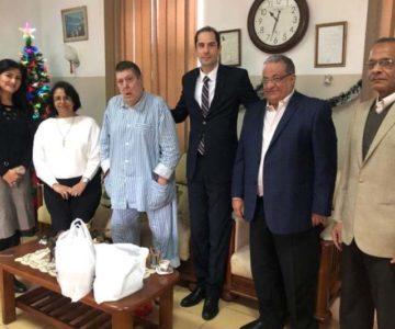 Ο Γενικός Πρόξενος Γ. Δασκαλόπουλος επισκέφθηκε το Ελληνικό Γηροκομείο