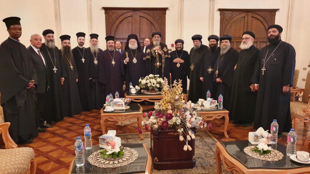 Ο Πατρ. Αλεξανδρείας στον κόπτη Πατριάρχη