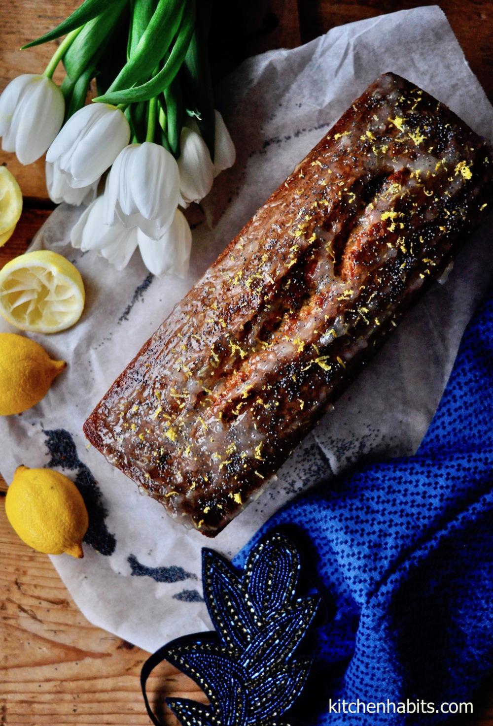Κέικ λεμονιού με παπαρουνόσπορο – Lemon cake with poppy seeds