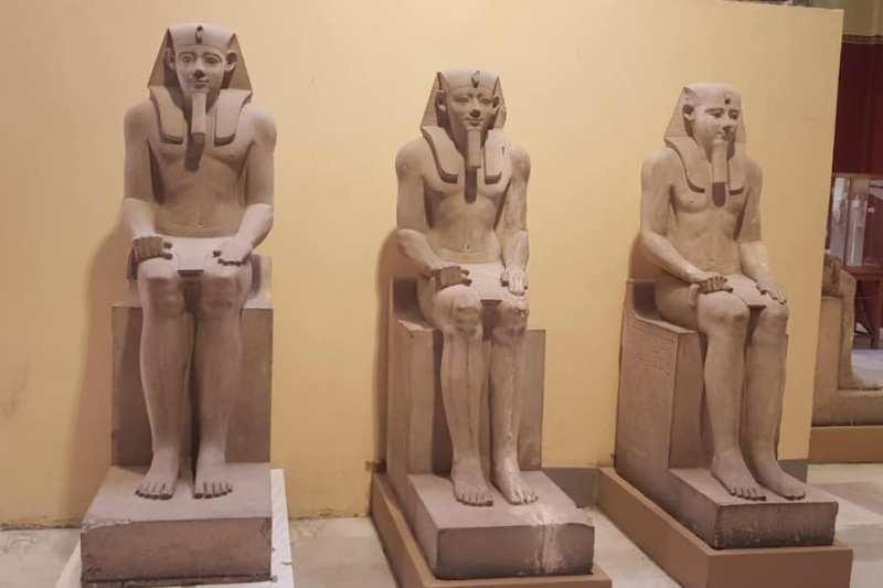 Συνεχίζεται η μεταφορά αρχαιοτήτων στο GEM – 10 αγάλματα του Σενουσρέτ Α' «έφυγαν» από την Ταχρίρ