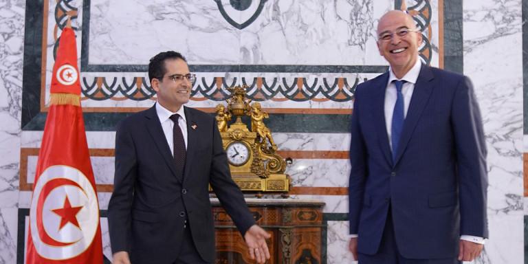 Δένδιας στην Τυνησία -Υπεγράφη η Συμφωνία Θαλασσίων Μεταφορών