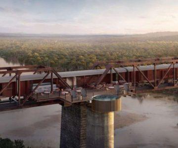Πολυτελές ξενοδοχείο κατασκευάζεται σε τρένο πάνω σε γέφυρα!
