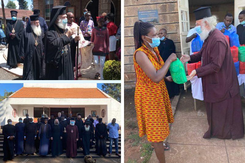 Κένυα: Ο Πατριάρχης Θεόδωρος προσέφερε τρόφιμα σε μητέρες που λόγω της πανδημίας δεν μπορούσαν να θρέψουν τα παιδιά τους