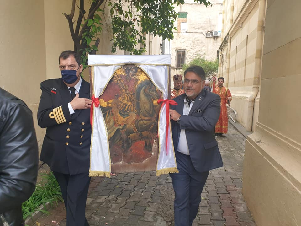 Οι πιστοί στην Τυνησία πανηγύρισαν τον Άγιο Γεώργιο