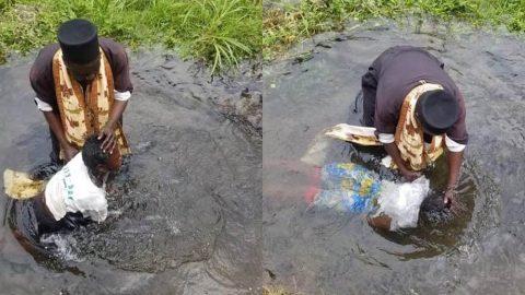 Ο δεσπότης βαπτίζει στα νερά