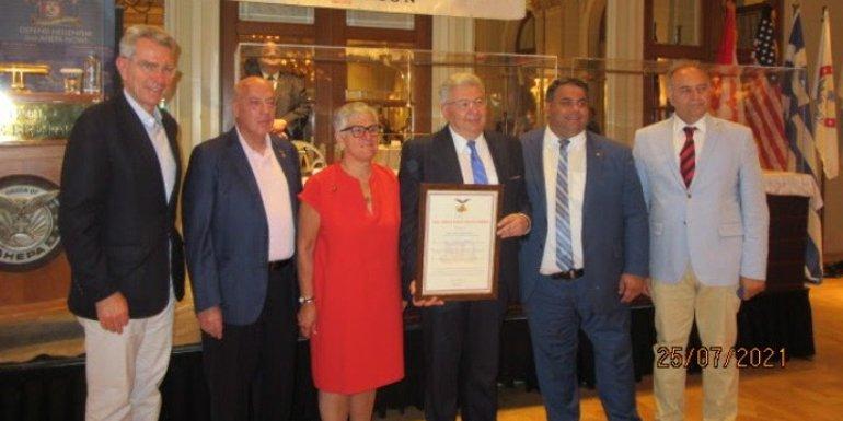 Η AHEPA τίμησε τον γγ Απόδημου Ελληνισμού, Γ. Χρυσουλάκη για την προσφορά του στην ομογένεια